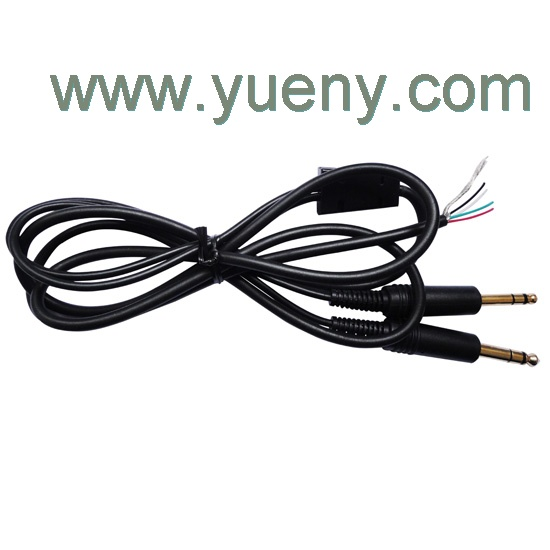 Replacement main cable for aviation headsets stereo