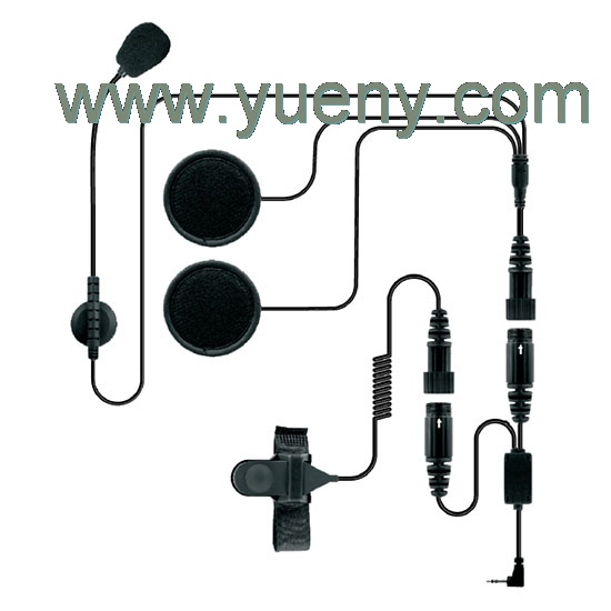 helmet headset for two way radio HHR-2