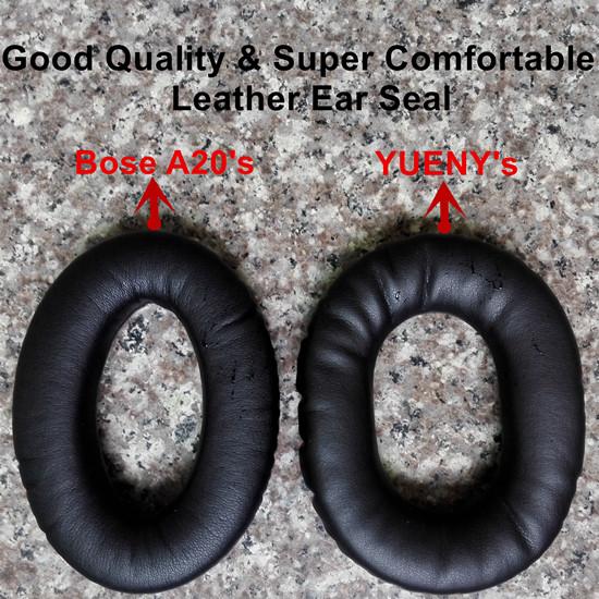 Leather Ear Seal Aviation Headset Leather Ear Cushion