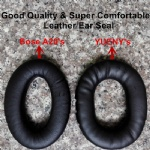 leather ear seal aviation headset ear cushions